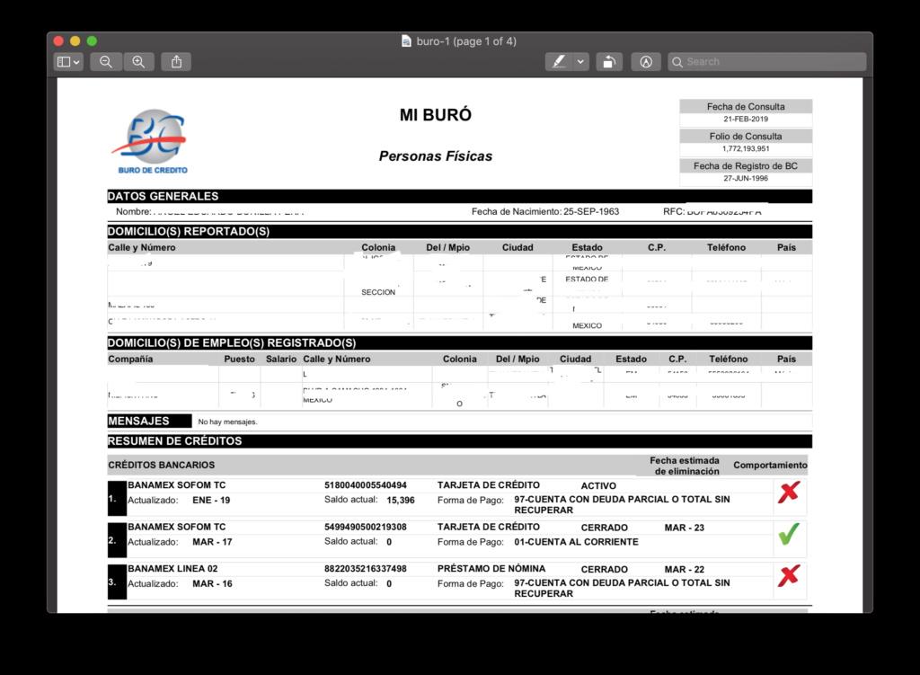 Mi nombre no coincide con mi reporte de Buró Buro-i11