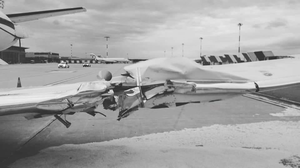 Incidente a MXP tra Cessna e rampa  4ca03410