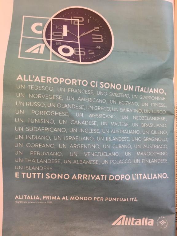 Alitalia è davvero la piu' puntuale al mondo? 87d51c10
