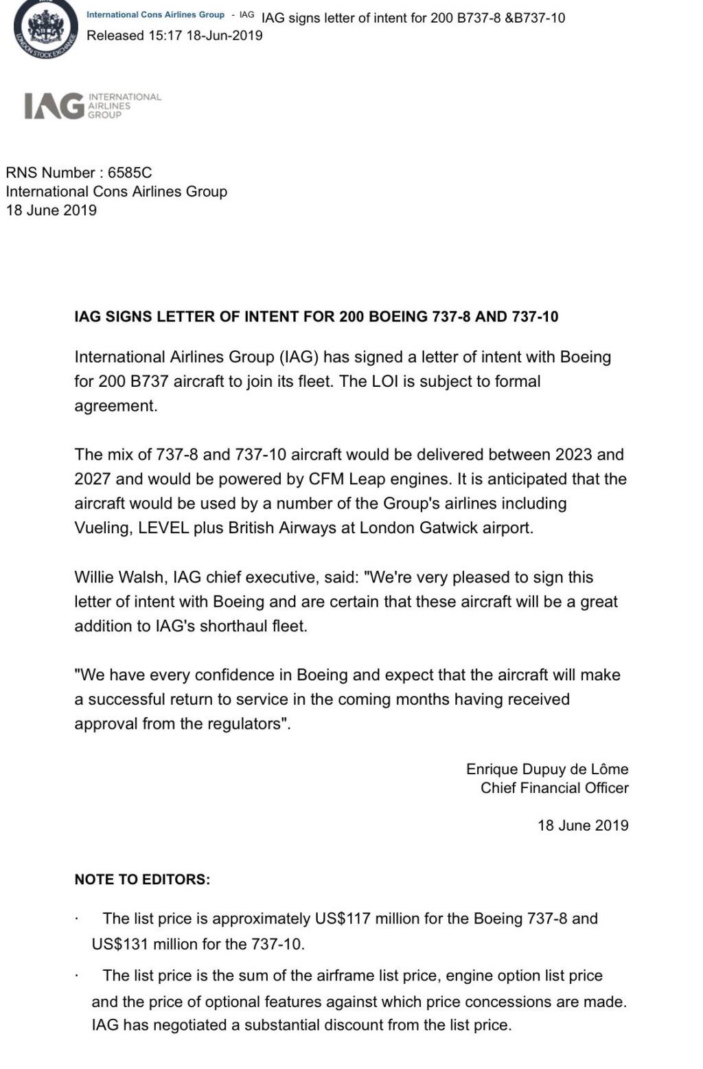 Il 737MAX non si chiamerà più MAX (era: AG firma LoI per 200 MAX ma non lo dice) A3de4510