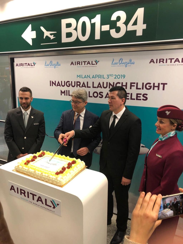 Evento: inaugurazione Airitaly Milano-Los Angeles B13d2f10