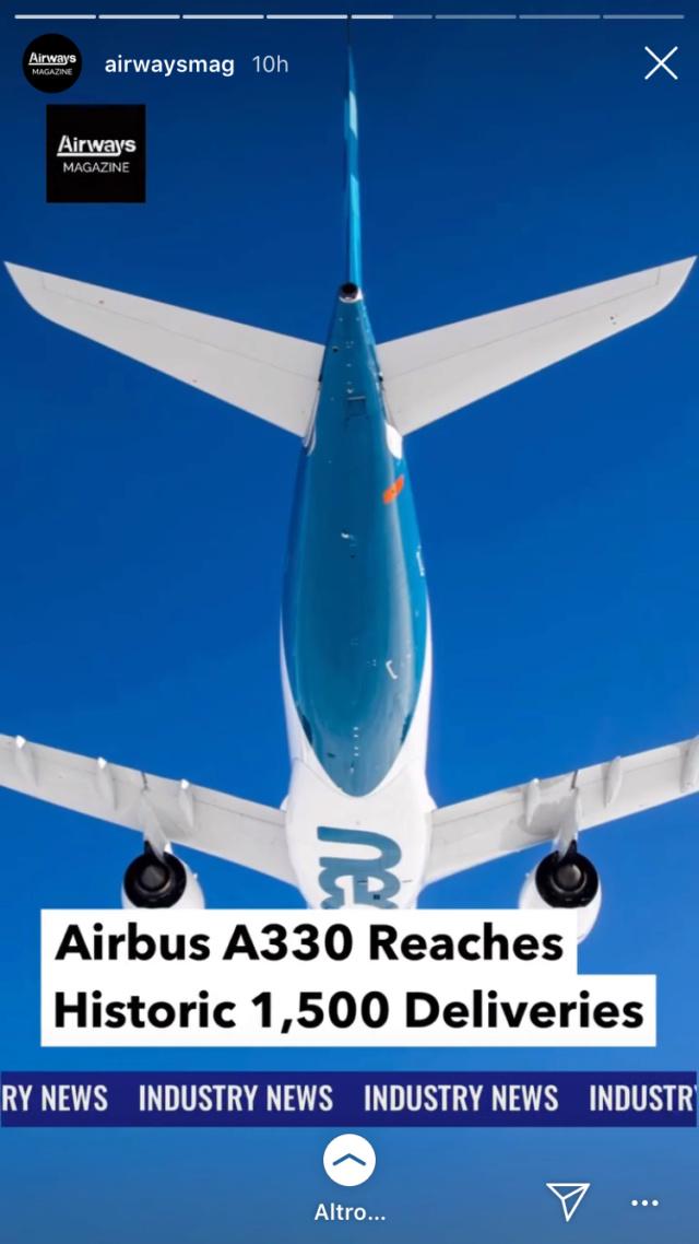 Un sorpasso storico: 320 vs 737 B2641210
