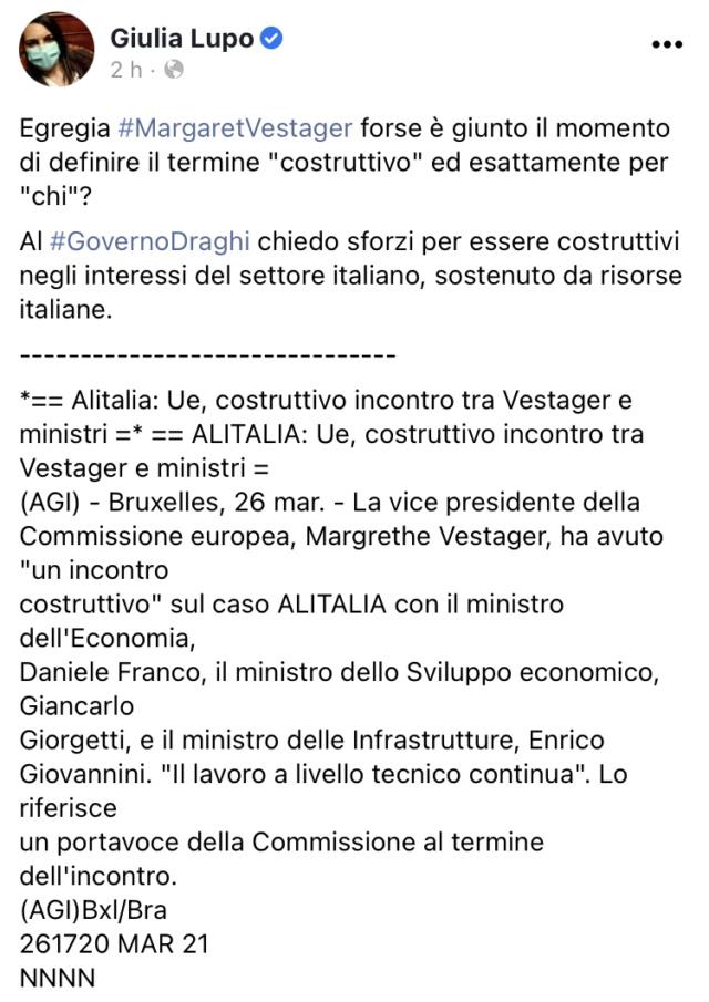 Alitalia, scontro con la EU E949ec10
