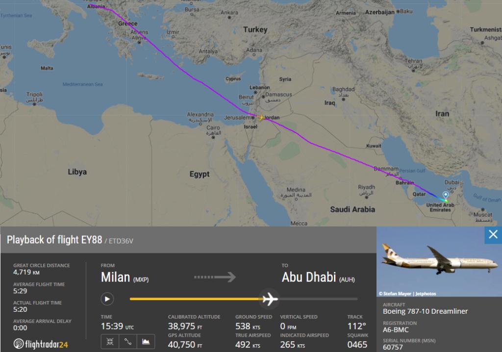 Un record per il volo Etihad di ieri Ey88_210