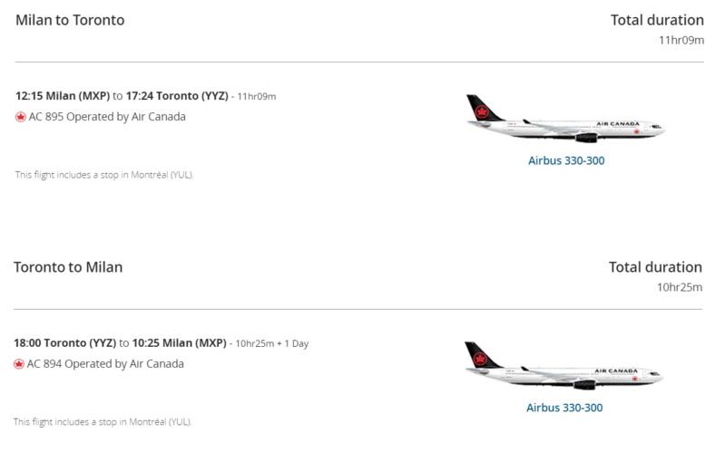 Air Canada aprirà Montreal-Milano dal maggio 2022 Mil-yy10