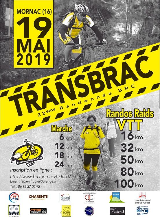 Mornac (16) - raid TRANSBRAC - dimanche 19 mai 2019 Affich10