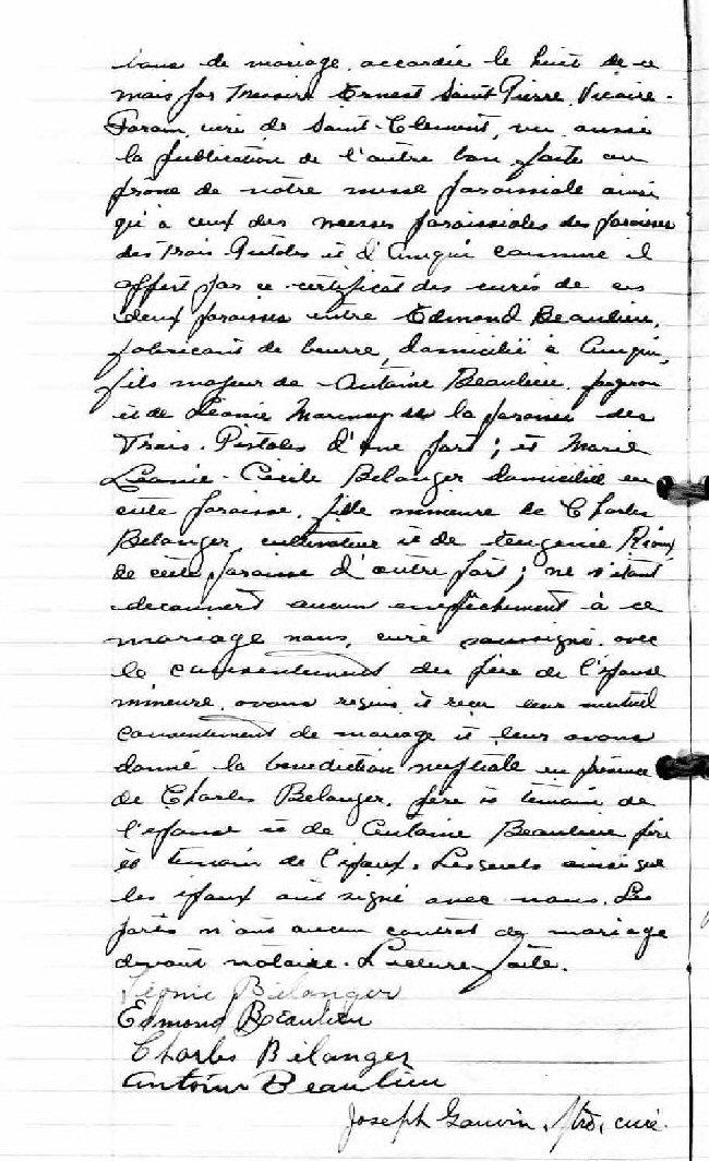 BEAULIEU Jean-Claude - Recherche Acte Baptême    Acte_d22
