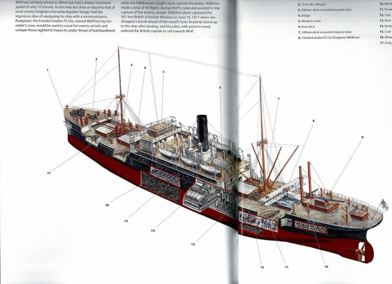 SMS Wolf corsaire allemand WW1 1/350 scratch 20190648