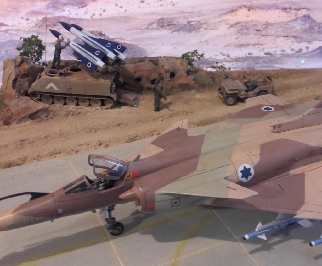 diorama what-if super kfir et M113 Hawk 1/172 italéri scratch 20211195