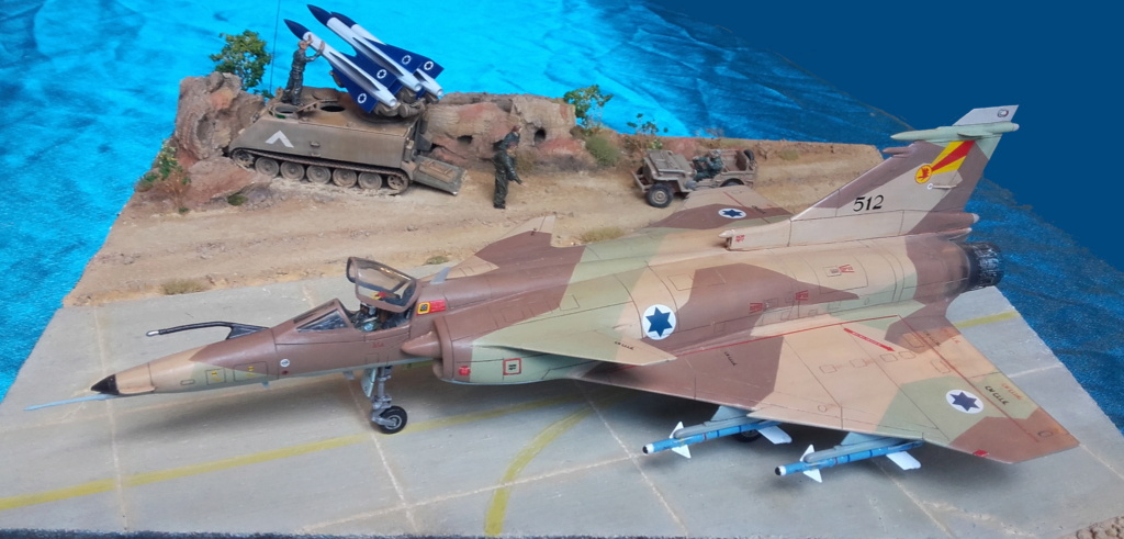 diorama what-if super kfir et M113 Hawk 1/172 italéri scratch 20211198