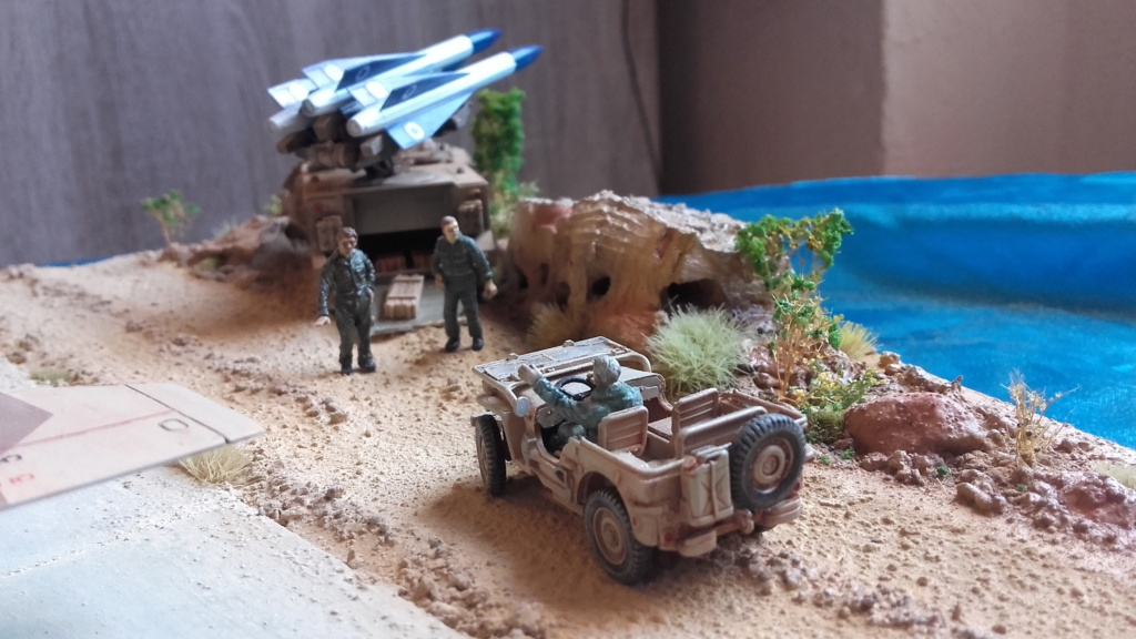 diorama what-if super kfir et M113 Hawk 1/172 italéri scratch 20211200