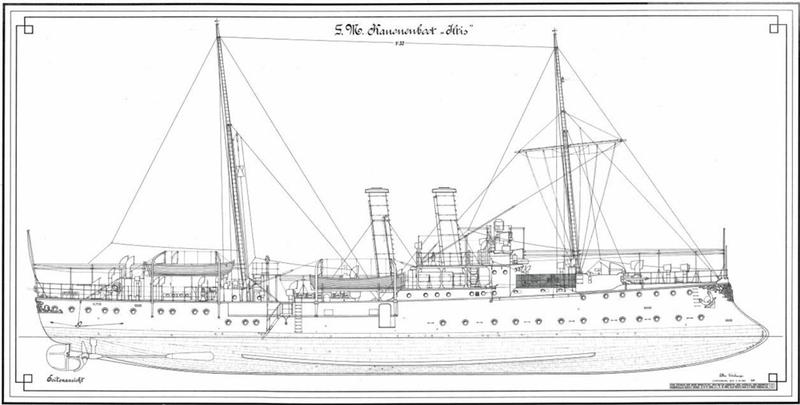 canonnière SMS Iltis 1898 scratch 1/350 800-h010