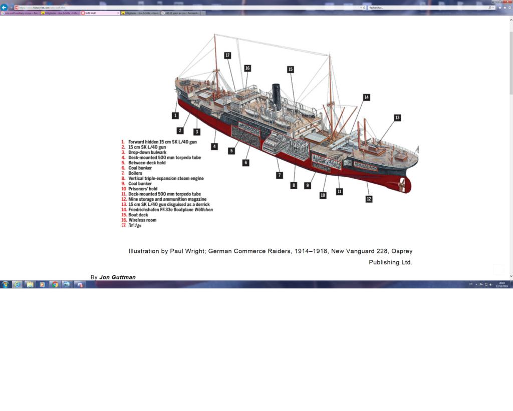 SMS Wolf corsaire allemand WW1 1/350 scratch Sans_t10