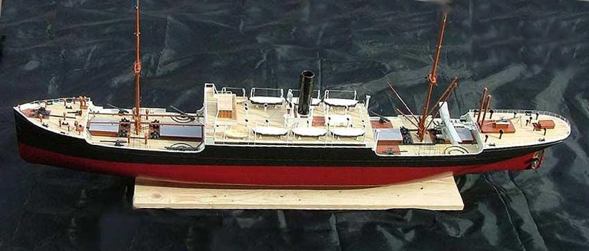 SMS Wolf corsaire allemand WW1 1/350 scratch Zin1g10