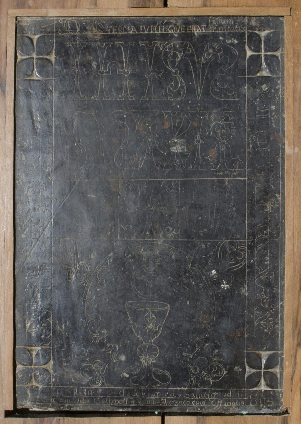 Une pierre d'autel de 1520 01062010