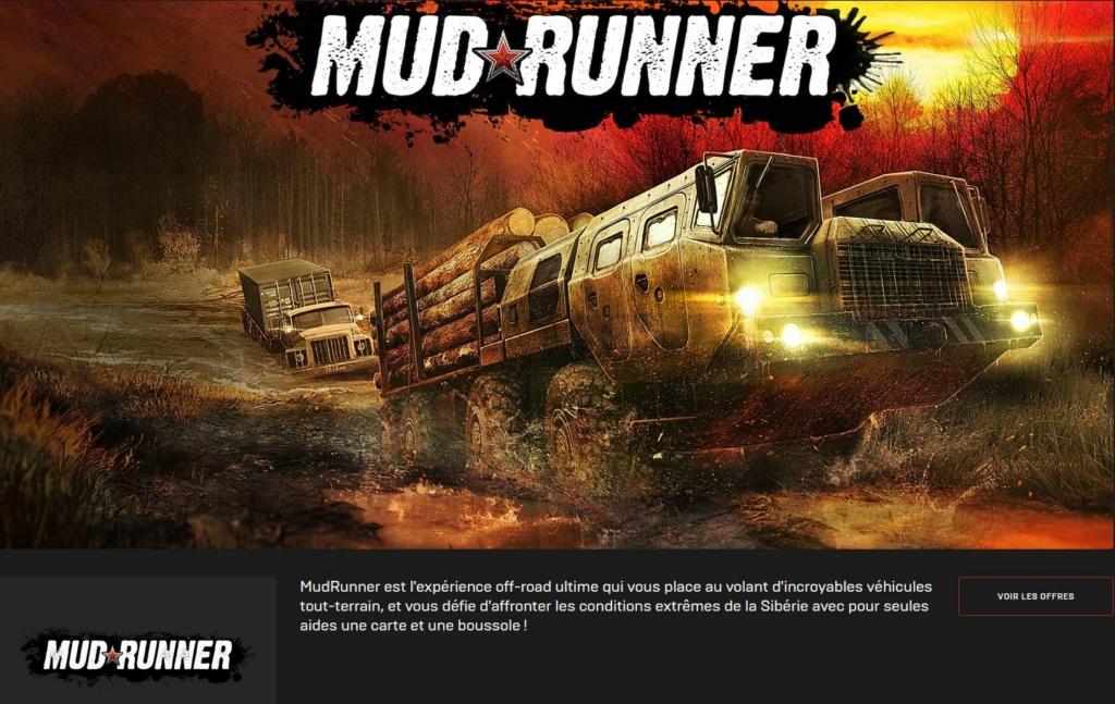 jeu vidéo Mud Runner gratuit sur l'Epic Store Mud10