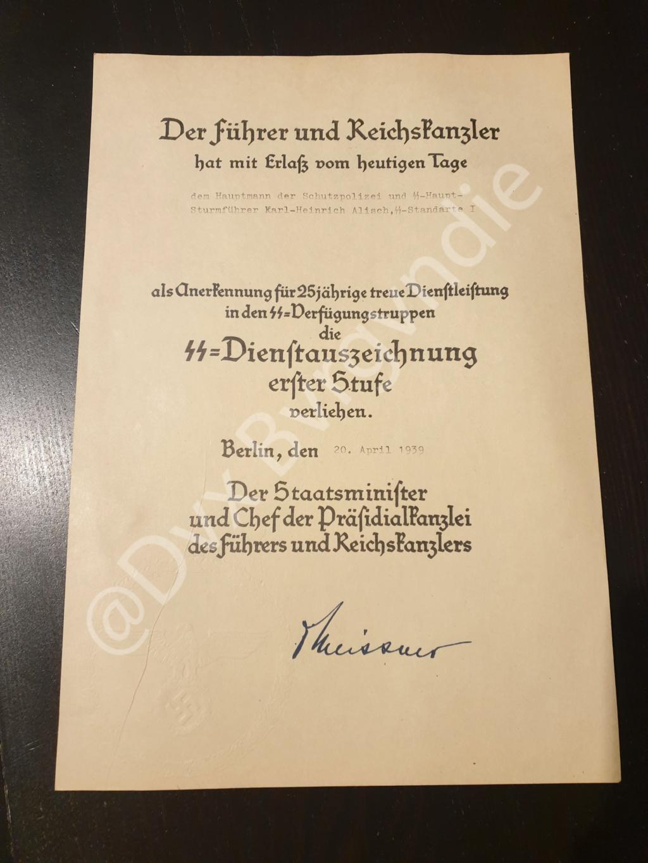 Diplome IIIe Reich / SS / HJ ? 20201215