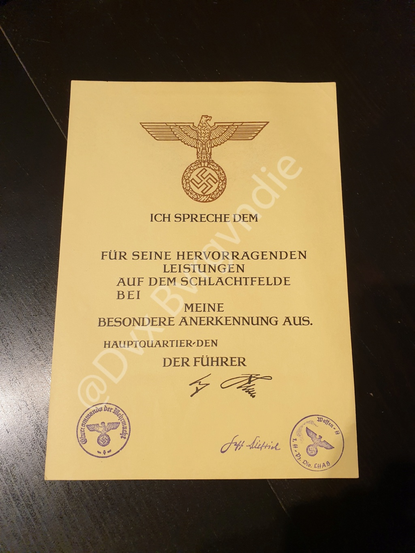 Diplome IIIe Reich / SS / HJ ? 20201216