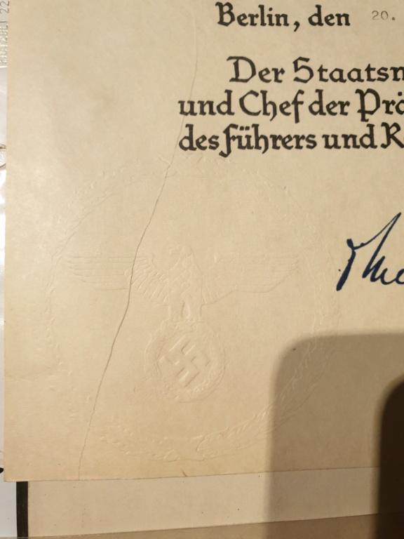 Diplome IIIe Reich / SS / HJ ? 20201217