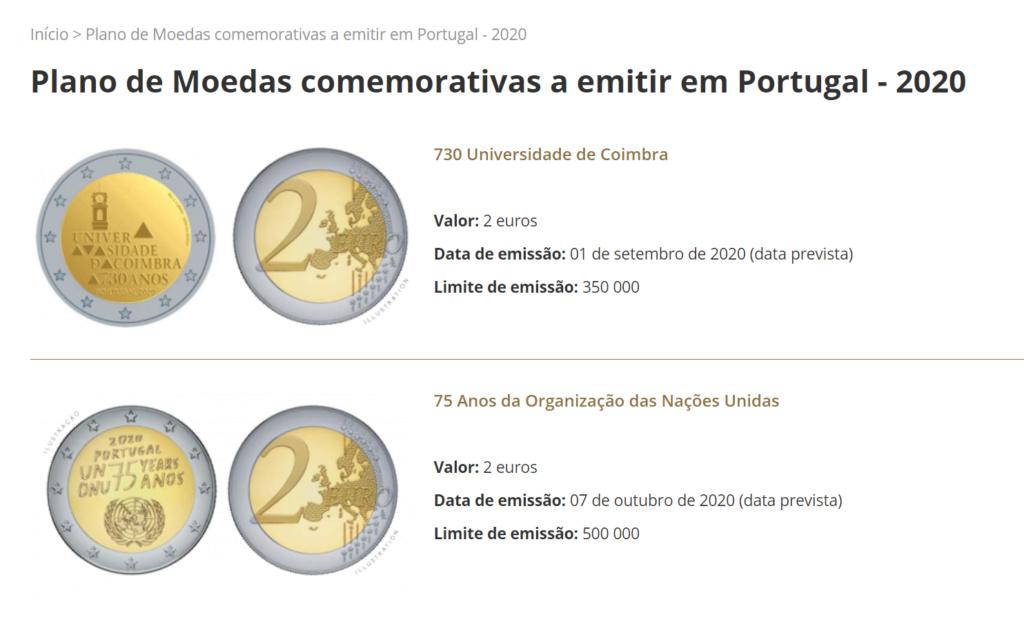 Portugal 2€ Tokio 2020? 202011