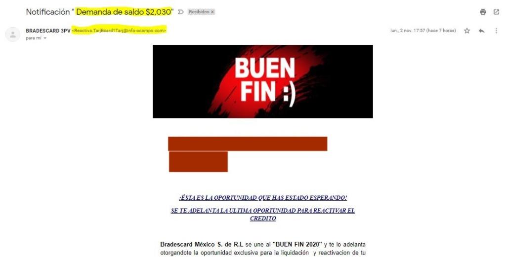 """Notificación """" Demanda de saldo $2,030"""" OCAMPO CANO y ASOCIADOS Bufete Jurídico 111"""