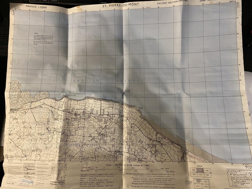 Carte Pointe du hoc et brassard US 4ea7b110