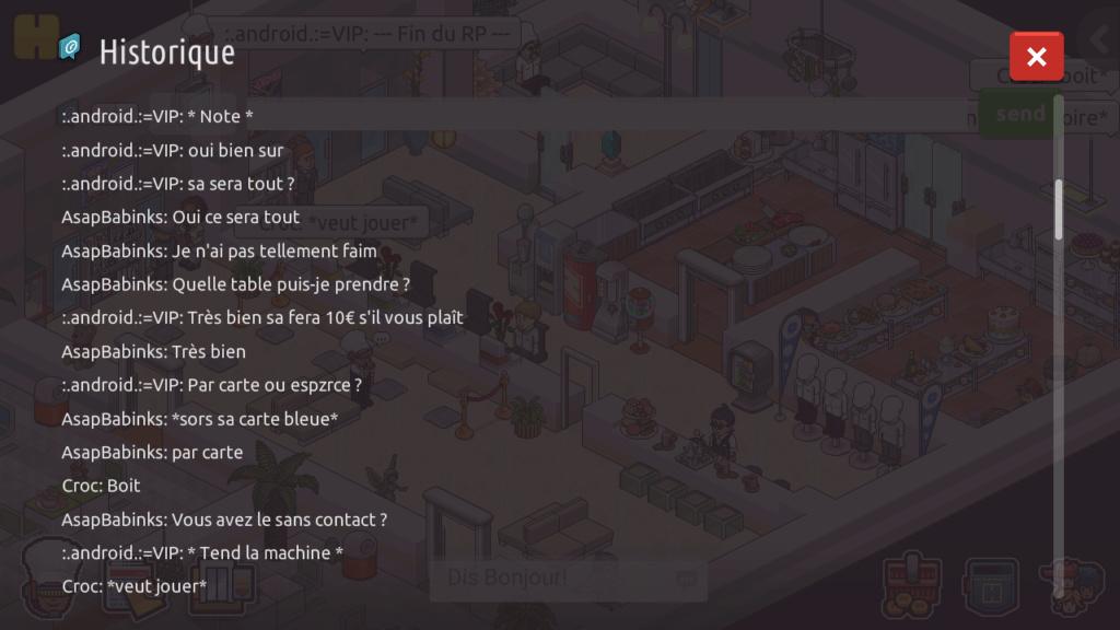 [R.] - Rapport de RP de :.android.:=VIP Screen88