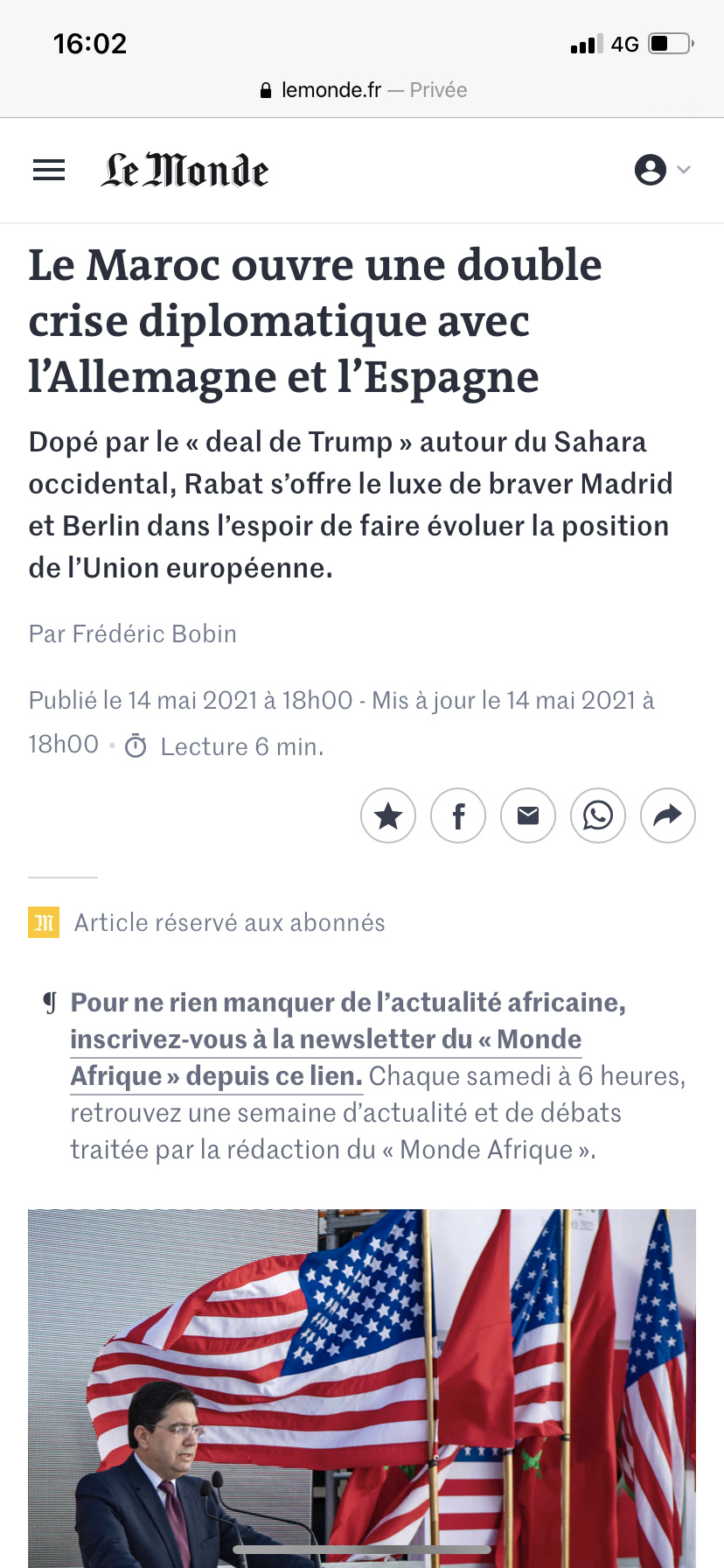 Diplomatie marocaine - Relations internationales 127