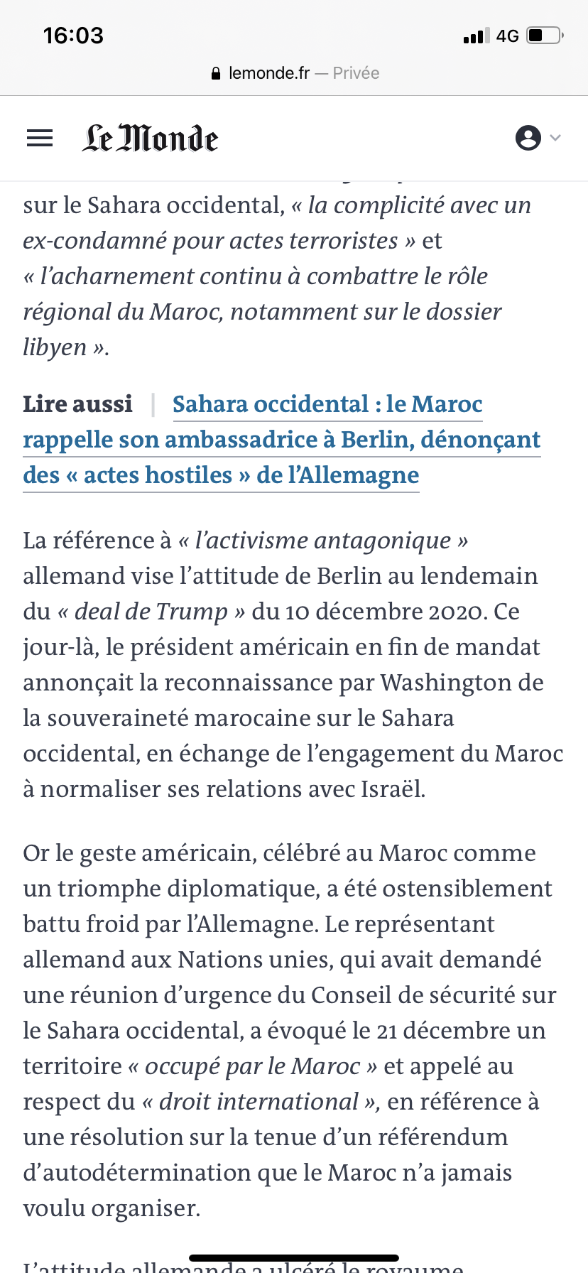 Diplomatie marocaine - Relations internationales 619