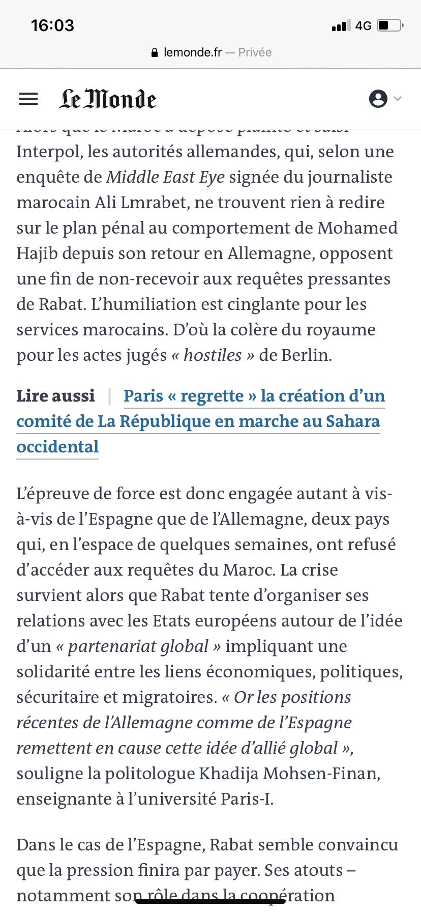 Diplomatie marocaine - Relations internationales 815