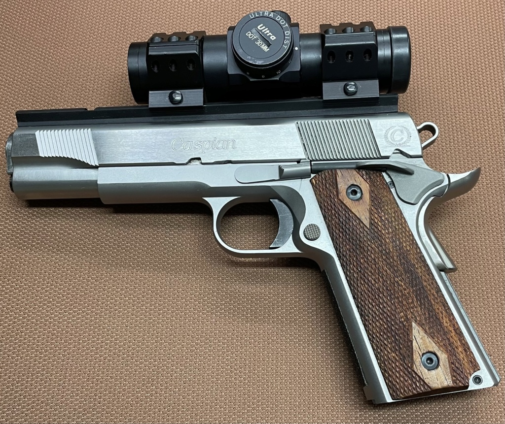Sold Caspian 1911 9mm Built by Dave Salyer with Scope Salyer12