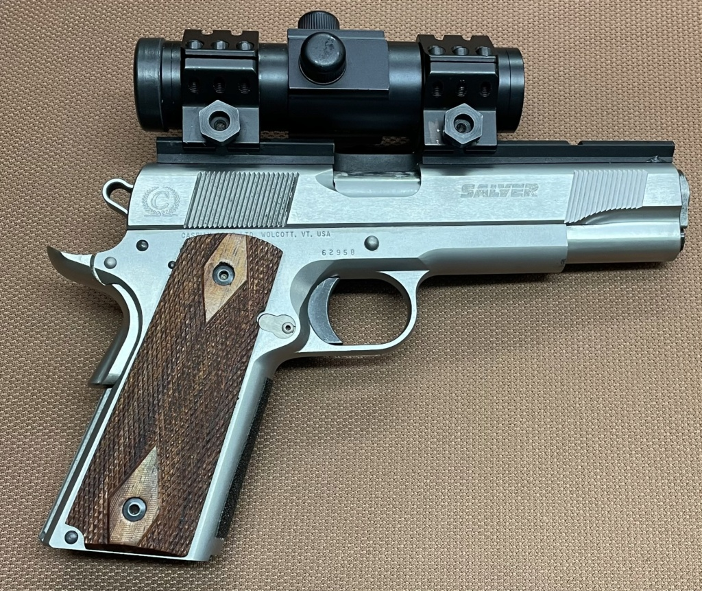 Sold Caspian 1911 9mm Built by Dave Salyer with Scope Salyer13