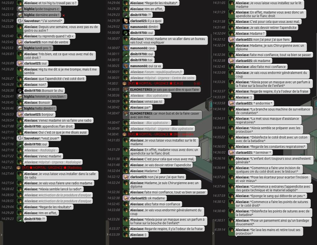 [C.H.U] Rapports d'Actions RP d'Alexiase Append10