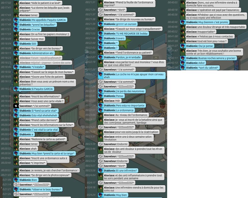 [C.H.U] Rapports d'Actions RP d'Alexiase Diablo10