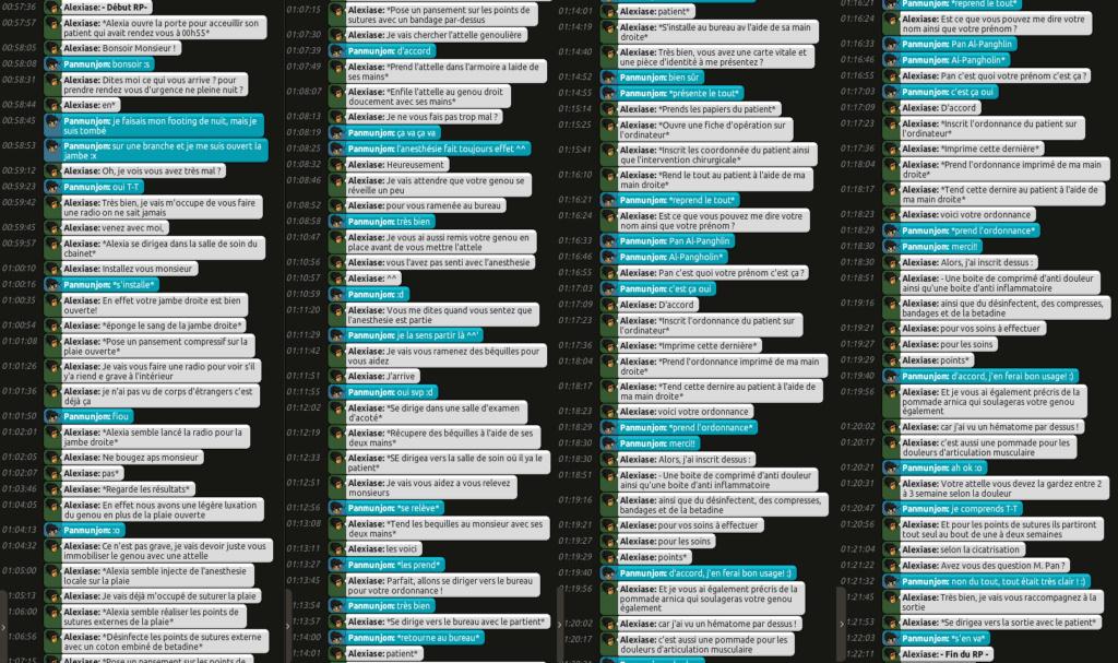 [C.H.U] Rapports d'Actions RP d'Alexiase Pan10