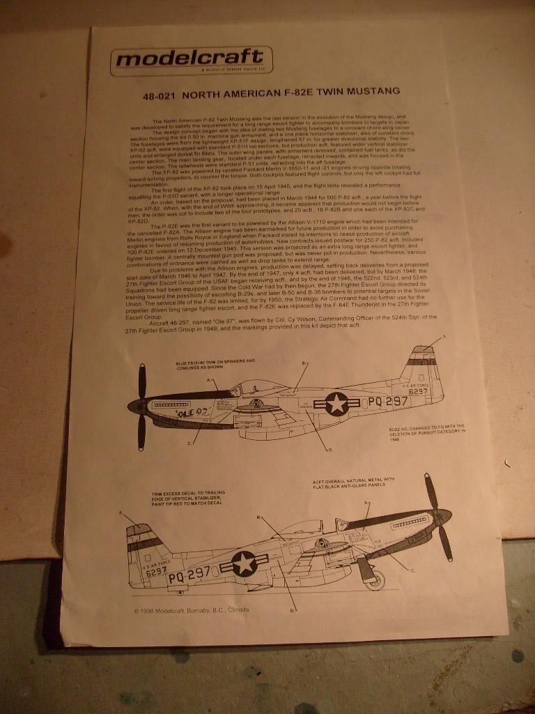[Modelcraft] F 82 E Twin mustang au 48 eme S7303611