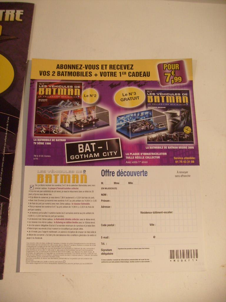 collection les véhicules de Batman, eaglemoss, Angleterre S7304852