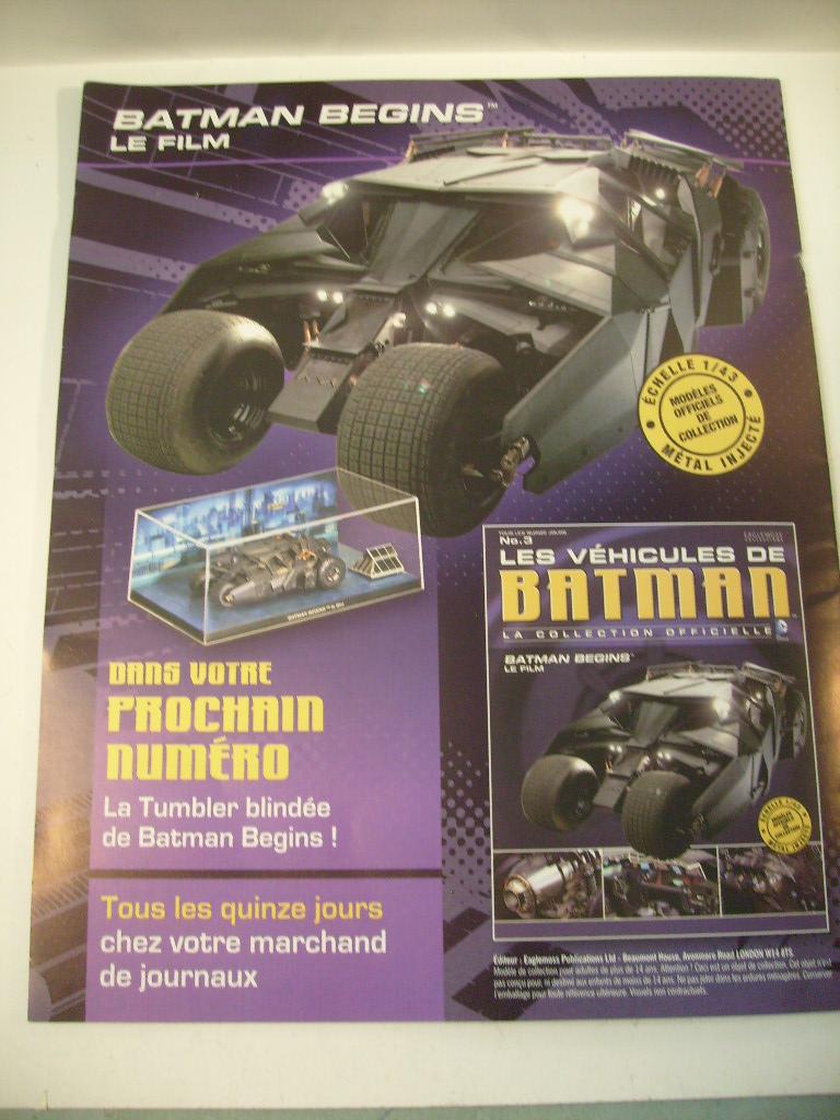 collection les véhicules de Batman, eaglemoss, Angleterre S7305025