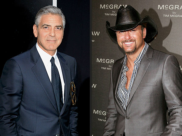 Photos: George Clooney and Tim McGraw Hunker Down at a Bar in Orlando, Monday 18 Nov Cloone10