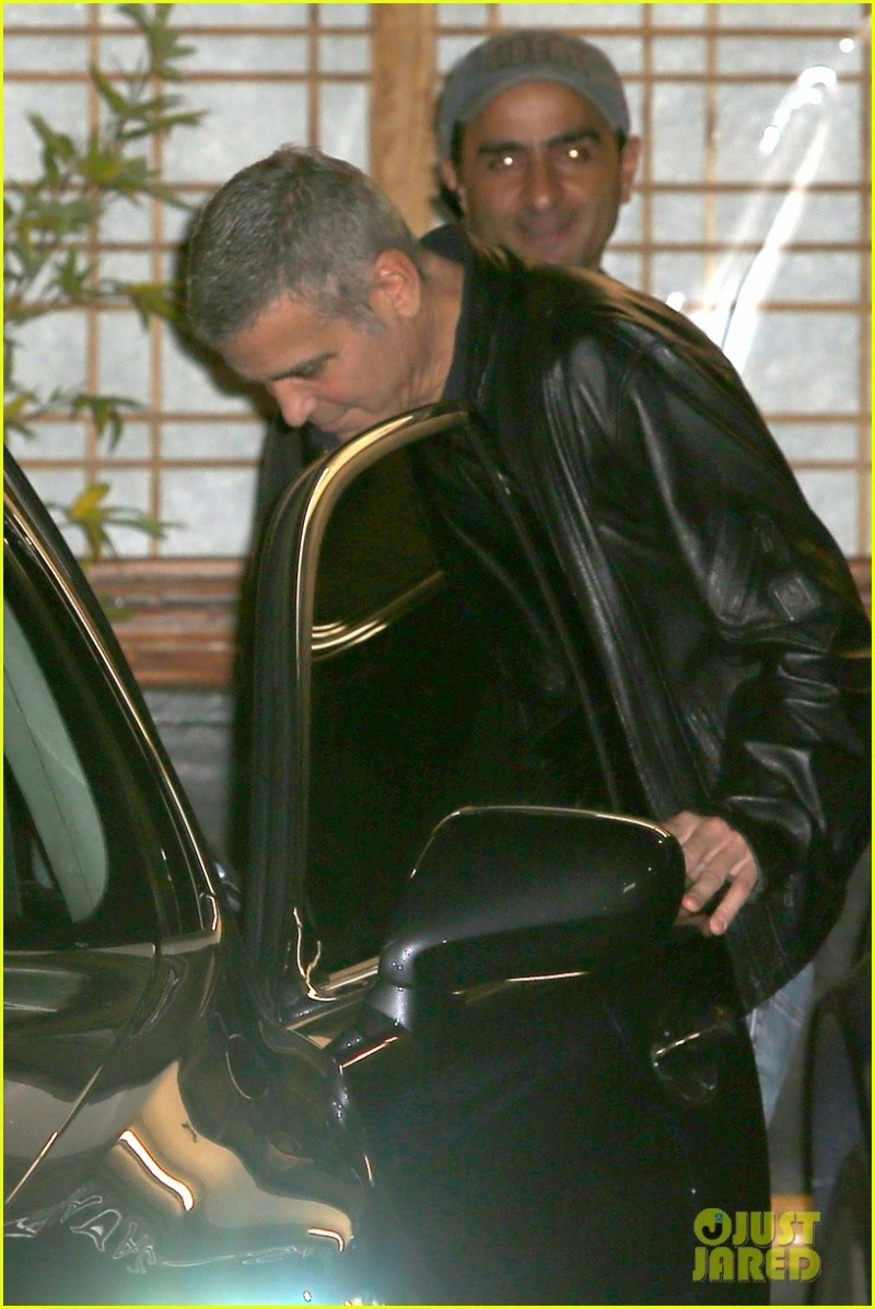 George Clooney out to dinner in Studio city  Dinner13