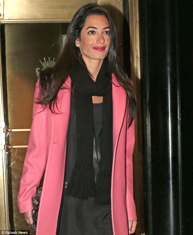 George Clooney out to dinner with Amal Alamuddin in New York New_yo15