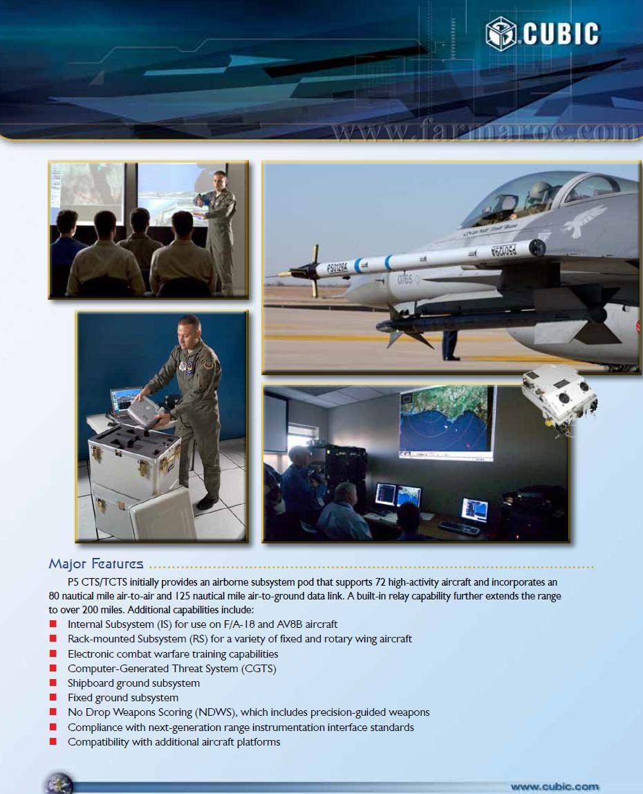 القوات الجوية االملكية المغربية تتعاقد على احدث نظام تدريب في العالم  P5 Combat Training System Farmar18