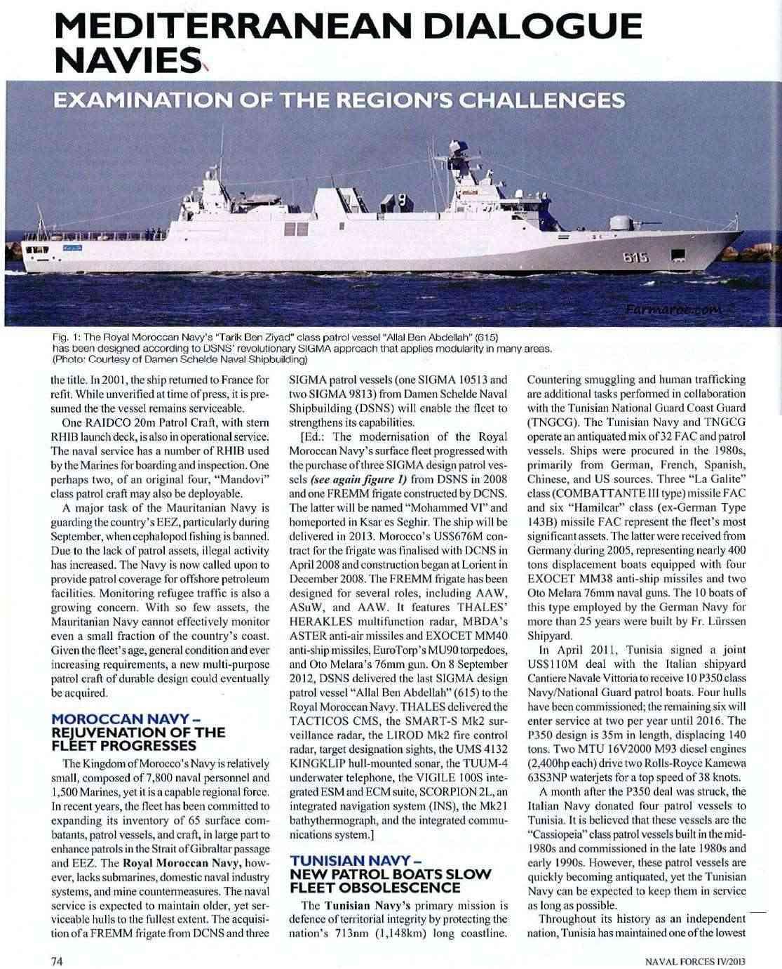 Articles à propos de la Marine Royale Marocaine Naval_12