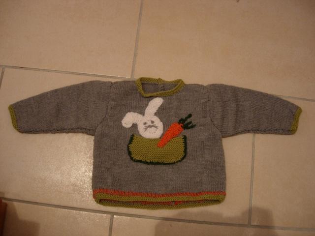 un pull, un gilet et des moufles pour un bébé Dscn2818
