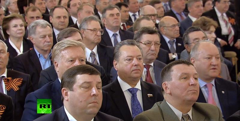 Valentina Terechkova à la conférence de Vladimir Poutine sur la Crimée Sans_t14