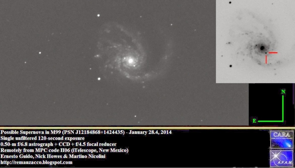 Supernova dans M99 (SN 2014L) M99_t110