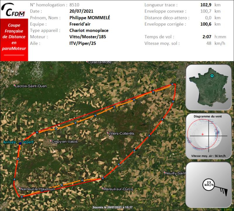 8510 - 20/07/21 - Philippe MOMMELÉ - 100 km - homologué Img1003