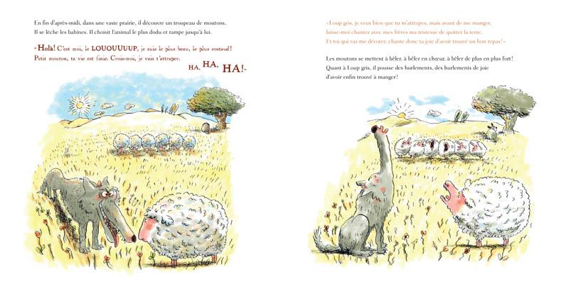 [Bizouerne, Gilles & Badel, Ronan] La bonne humeur de loup gris Loupgr10