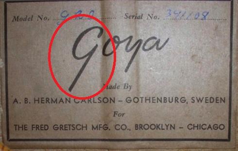 GOYA  G.20   G.10  G.15  (for Gretsch)  1956 19811010