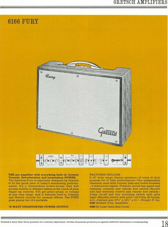 1963 Gretsch 6166 Fury Amplifier 65cat110